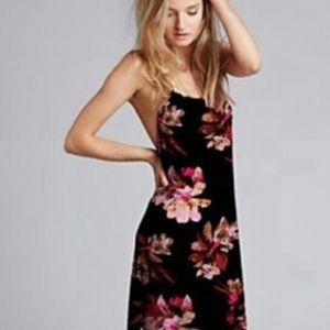 FREE PEOPLE black floral maxi